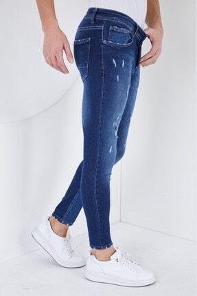 Erkek Mavi Skinny Fit Jeans ndm111