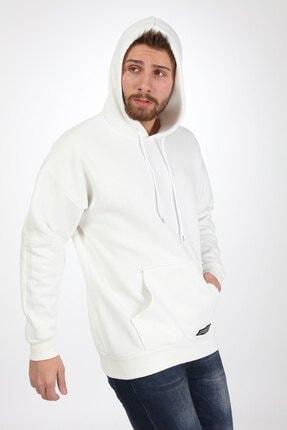 Millionaire Erkek Ekru Kapşonlu Oversize Sweatshirt 0