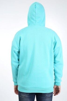 Millionaire Erkek Mint Kapşonlu Oversize Sweatshirt 3
