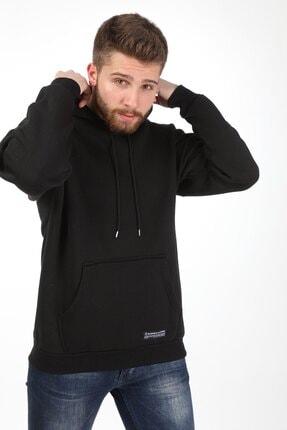 Millionaire Erkek Siyah Kapüşonlu Oversize Sweatshirt 1