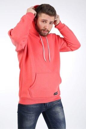 Millionaire Erkek Nar Çiçeği Kapüşonlu Oversize Sweatshirt 0