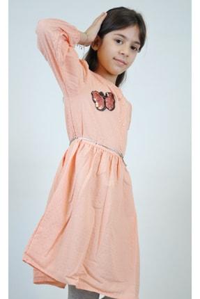 Timo Kız Çocuk Pudra Aplikeli Elbise 153309040 0