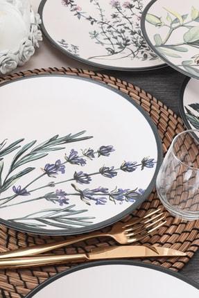 Keramika Çiçek Bahçesi Servis Tabağı 25 Cm 6 Adet - 18938-39-40-41-42-43 1