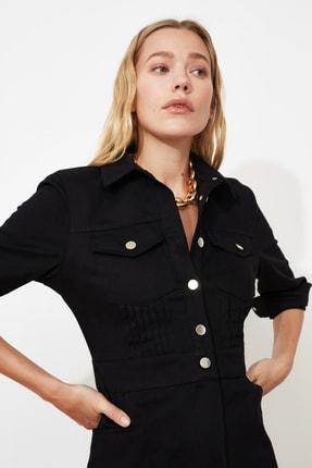 TRENDYOLMİLLA Siyah Düğmeli Elbise TWOSS21EL0748 2