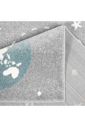 vinosahome Vinosa Home Uzay Tema Desen Gri Renk Bebek Ve Çocuk Odası Halısı 4