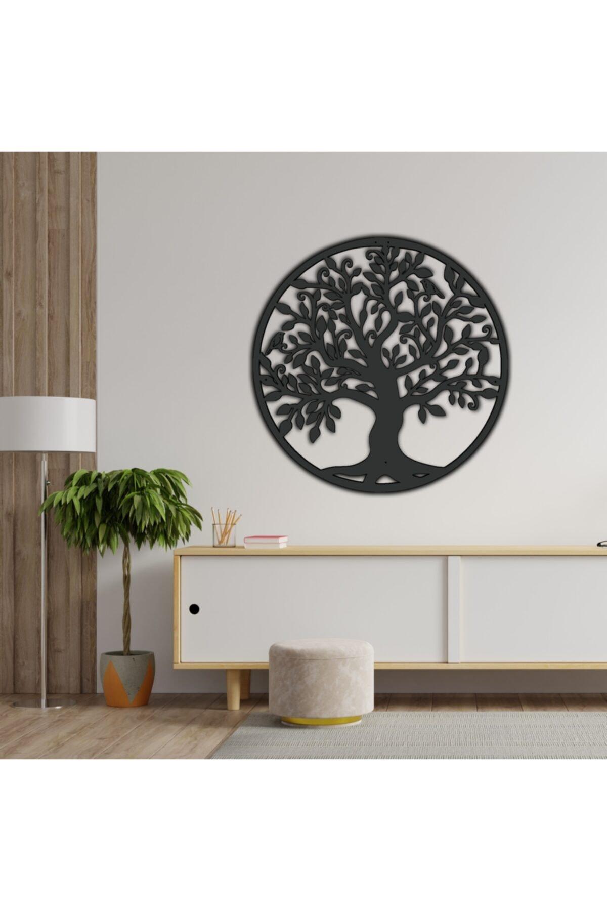 Elegant decor Yaşam Ağacı Metal Duvar Dekoru, Oturma Odası, Ofis Dekoru , Hayat Ağacı Metal Tablo