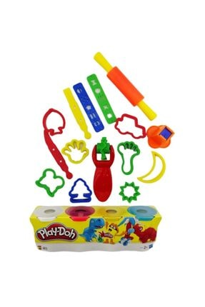Play Doh Plah Doh Oyun Hamuru + 17 Parça Şekilli Set 0