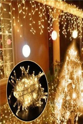 Magic Hobby Dekoratif Saçak Led Işık Ip Perde Sarkıt Yılbaşı Süs 4mt Sarı Eklemeli 1