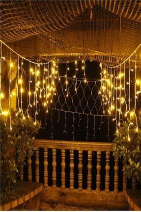 Magic Hobby Dekoratif Saçak Led Işık Ip Perde Sarkıt Yılbaşı Süs 4mt Sarı Eklemeli 2