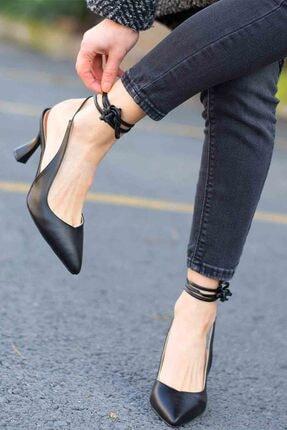 Gökçe Shoes NORA SİYAH TOPUKLU AYAKKABI 1