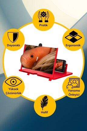 Buffer Taşınabilir Göz Yormayan 3d Cep Telefonu Mobil Tablet Hd Ekran Video Büyütücü Büyüteci 4