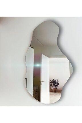 FNC CONCEPT Dekoratif Asimetrik Duvar Aynası 45x80cm 1