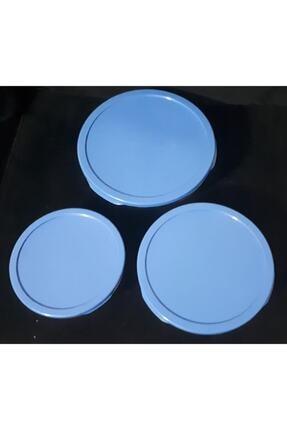 Paşabahçe Cam Chefs 3lü Kase Saklama Kabı Mavi Kapak 3