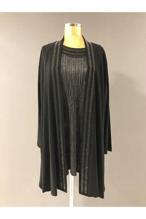 Bayan Ikili Siyah Tunik Bluz K:8011 Trendabiye PAPİLLA 8011