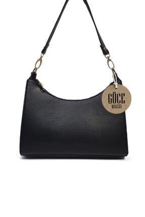 Güce Siyah Baget Baguette Zincir Askılı El Ve Çantası Gc009000f 0