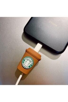 MY MÜRDÜM Starbucks Desenli Şarj Kablosu Koruyucusu 0