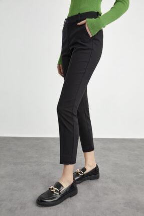 adL Kadın Siyah Paçası Yırtmaçlı Cepli Pantolon 2