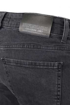 Collezione Collezıone Jeffrey Taşlamalı Slim Fit Antrasit Kot Pantolon 4