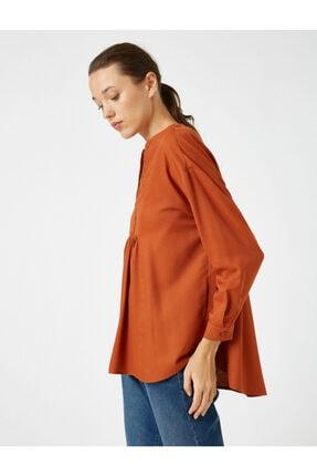 Koton Kadın V Yaka Uzun Kollu Bluz 1