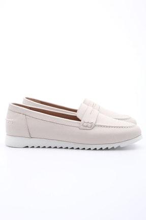 Marjin Kadın Bej Hakiki Deri Loafer Ayakkabı Vonlez 2