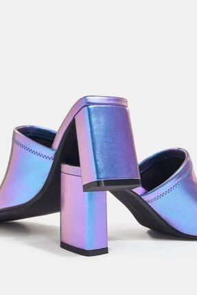 Bershka Yanardöner Metalik Topuklu Sandalet 3