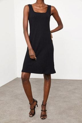 Xena Kadın Siyah Fitilli Elbise 1KZK6-11610-02 1