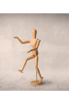 Hormiga 2li Ahşap Insan Figürlü Hareketli Kukla Model Manken Resim Ressam Eğitimi Tahta Adam Seti 3