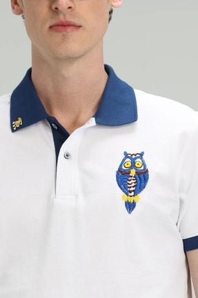 Lufian Palm Spor Polo T- Shirt Beyaz 3