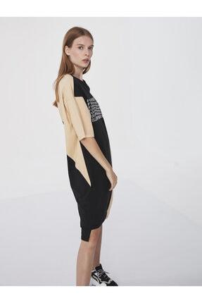 Twist Slogan Baskılı Sweat Elbise 1
