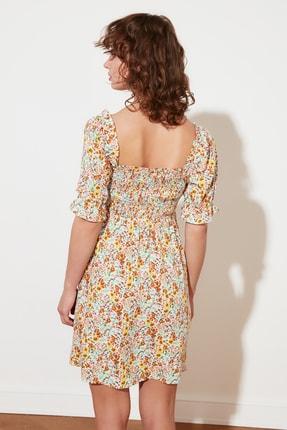 TRENDYOLMİLLA Ekru Petite Çiçekli Elbise TWOSS21EL2923 3