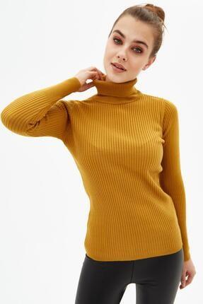 Pattaya Kadın Boğazlı Fitilli Triko Kazak Y20w110-44500 1