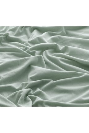 Deep And Pure Capella 100% Pamuk Tek Kişilik Yeşil Lastikli Çarşaf 90x200+30 Cm (Yükseklik) 1