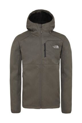 The North Face Quest Hooded Softshell Outdoor Erkek Mont Haki 0