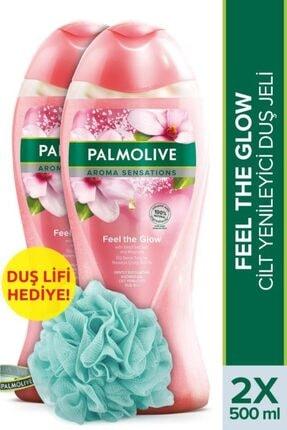 Palmolive Aroma Sensations Feel Glow  Banyo ve Duş Jeli 500 ml x 2 Adet + Duş Lifi Hediye 0