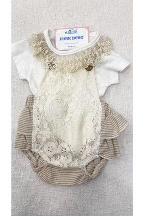 Kız Bebek Dantelli Tulum pb21073