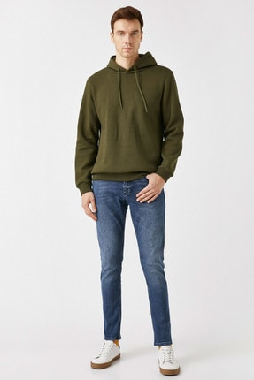 Erkek Orta İndigo Jeans 1YAM43058LD