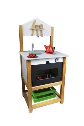 EDU DİZAYN Ahşap Eğitici Oyuncak Mutfak Montessori Galya Mutfak 0
