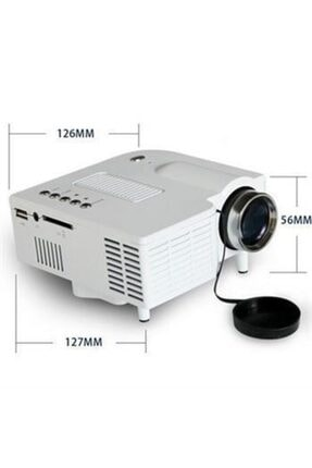 MASTEK Led Mini Projeksiyon Cihazı Ev Sineması Usb+hdmı An-6820 4