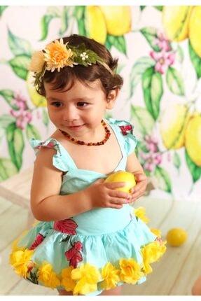 İpek Kehribar Unisex Litvanya Sertifikalı Baltık Kehribar Kolye Yassı 4 Renk Kehribar Bebek Kolyesi 3