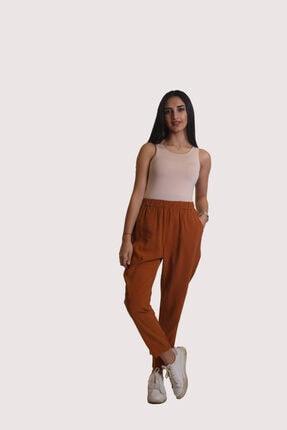 Kadın Kiremit Rengi Pantolon Zİ-1055
