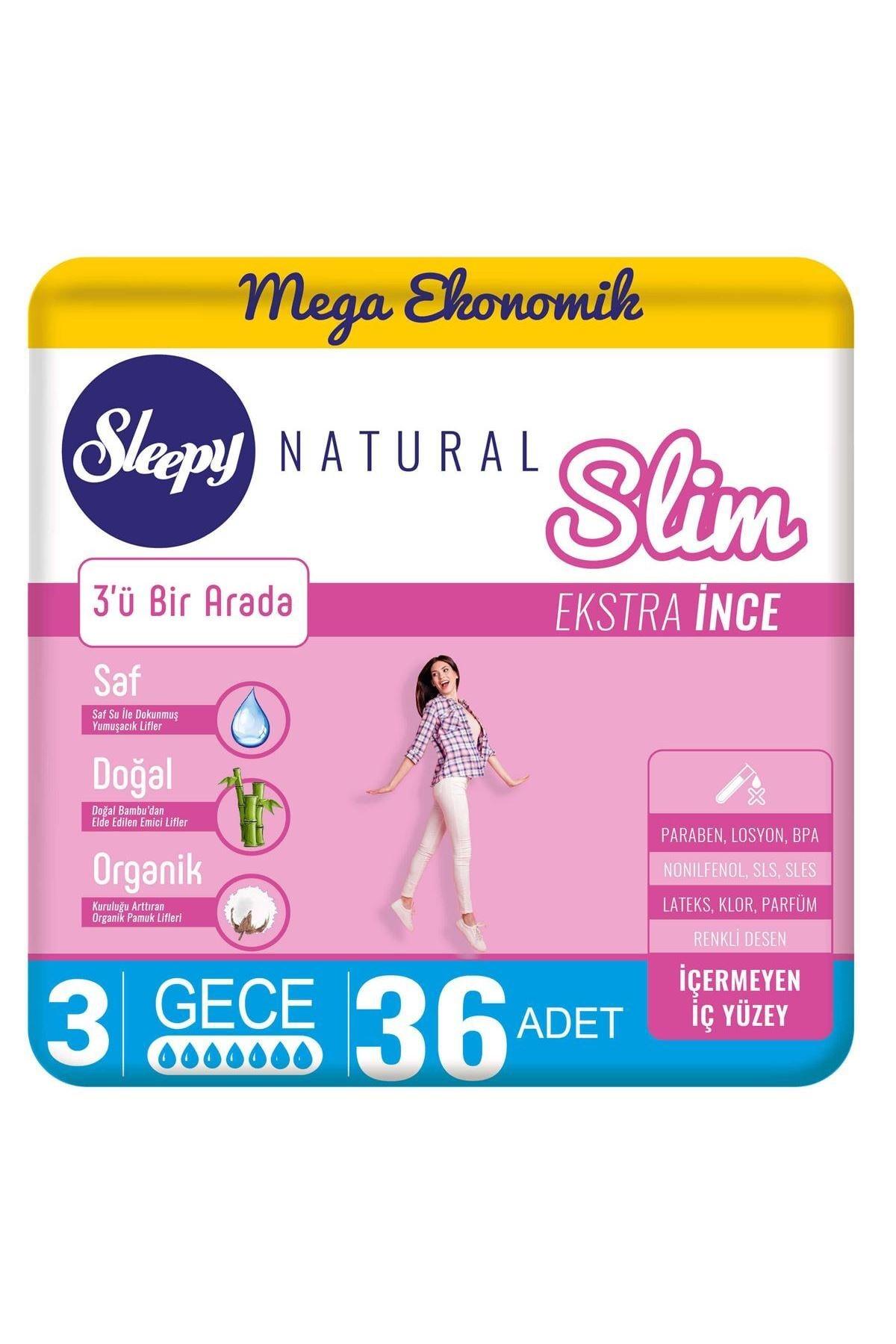 Sleepy Natural Slim Ekstra Ince Gece36 Ped 0