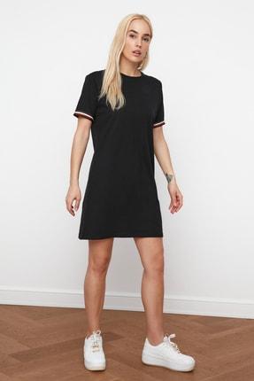 TRENDYOLMİLLA Siyah Şerit Detaylı Örme  Elbise TWOSS19FV0107 3