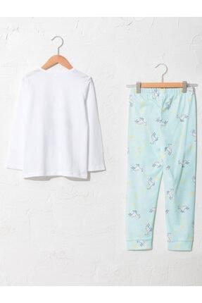 LC Waikiki Kız Çocuk Beyaz Desenli Pijama Takımı 1