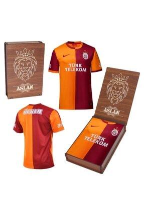 Picture of Galatasaray Orjinal Parçalı Forma 2013-2014 Sezonu 4 Yıldızlı Hediyelik Ahşap Kutulu