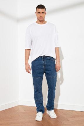 TRENDYOL MAN Beyaz Basic Erkek Oversize Bisiklet Yaka Kısa Kollu T-Shirt TMNSS21TS0811 2