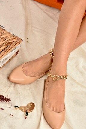 Fox Shoes Ten Zincirli Kadın Babet K726096009 0