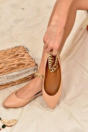 Fox Shoes Ten Zincirli Kadın Babet K726096009 1