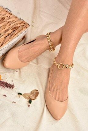 Fox Shoes Ten Zincirli Kadın Babet K726096009 3