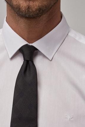 Altınyıldız Classics Erkek Beyaz Tailored Slim Fit Duble Manşet Gömlek 3