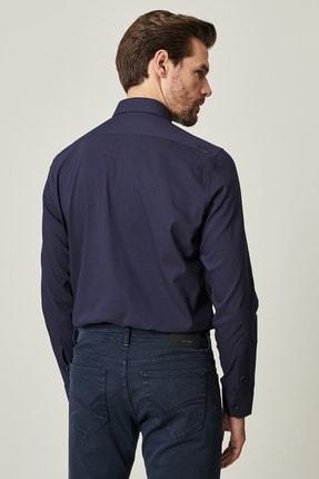Altınyıldız Classics Erkek Lacivert Tailored Slim Fit Dar Kesim Küçük İtalyan Yaka Gömlek 2